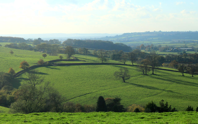2012 : West from the tops of Portway Hill and Crow's Hill