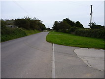 SW7145 : Southwards on the road to Wheal Rose outside Glyn Crest Farm by Richard Law