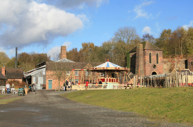 Blists Hill Victorian Town - ironworks and furnaces