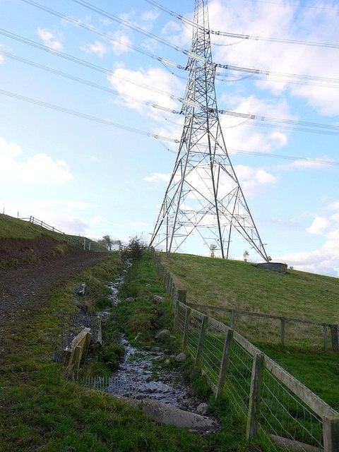 Stream beside track, North Middleton