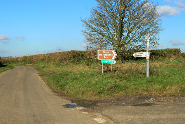 2012 : Junction on the road to Westcombe