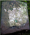 SD6391 : Writing on the broken boundary stone near Sedbergh by Karl and Ali