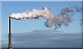 NT7076 : A smoke plume from the Dunbar Cement Works chimney by Walter Baxter