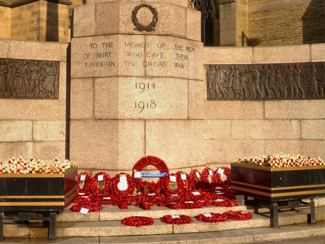 Bury War Memorial Inscription