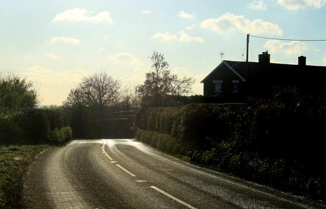 2012 : A359 approaching Fir Tree Cottages