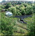 ST1097 : Cardiff Road river bridge, Trelewis by Jaggery