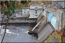 NN9357 : Pitlochry dam and power station by Jim Barton