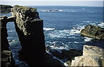 HY2115 : Natural Arch at Yesnaby by Russel Wills