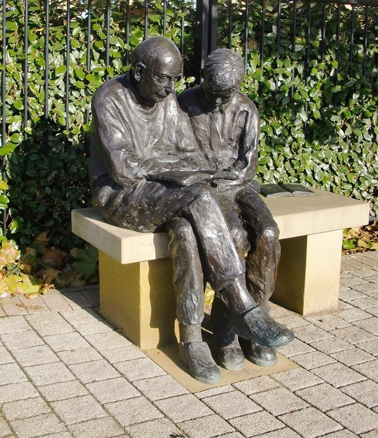 Sam and Dickie: 'public sculpture' at Queen Mary's Hospital, Roehampton