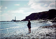 NZ3475 : Beach at Old Hartley - August 1958 by Neil Theasby