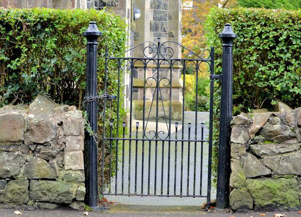 Church gate, Whitehouse, Newtownabbey (1)