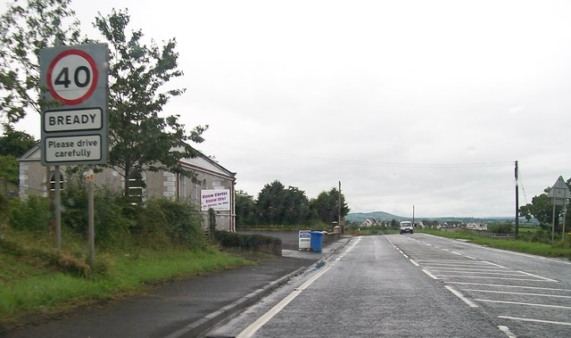 Entering Bready on the A5