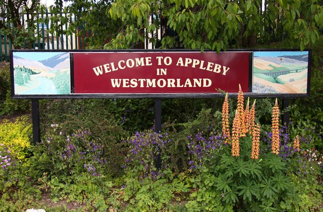 Appleby-in-Westmorland Station sign