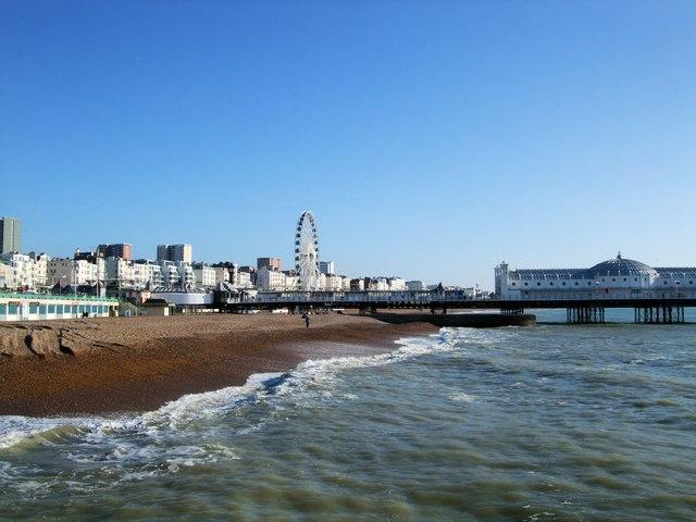 Beach near Brighton Pier