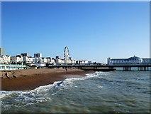 TQ3103 : Beach near Brighton Pier by Paul Gillett