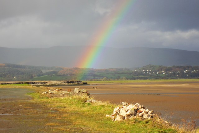 Rainbow over the marsh slaggy