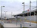 SJ8798 : Velopark Metrolink Station by David Dixon