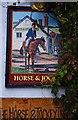 SO2872 : The Horse & Jockey Inn (2) - sign, Wylcwm Street, Knighton, Powys by P L Chadwick