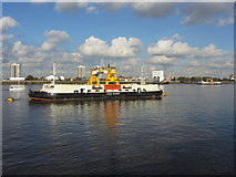TQ4279 : Woolwich ferries John Burns and James Newman by Gareth James