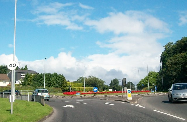 Roundabout on the Irvinestown Road