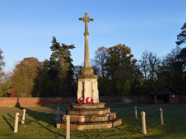 War memorial at Sandringham on November 11th