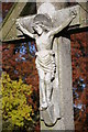 SO8932 : Memorial crucifix at Tewkesbury Abbey by Philip Halling