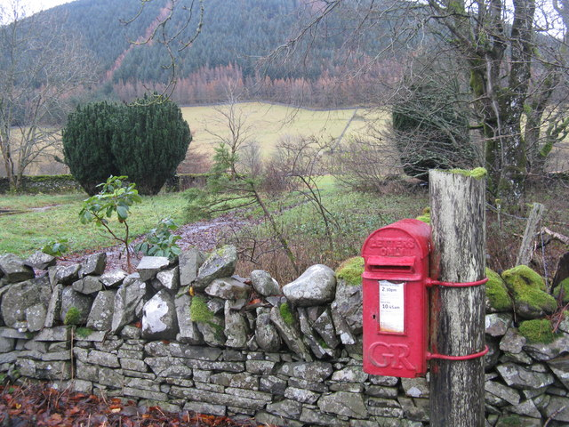 GR Post Box at the Crook Inn