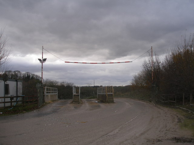 Exit from Barnsdale Quarries