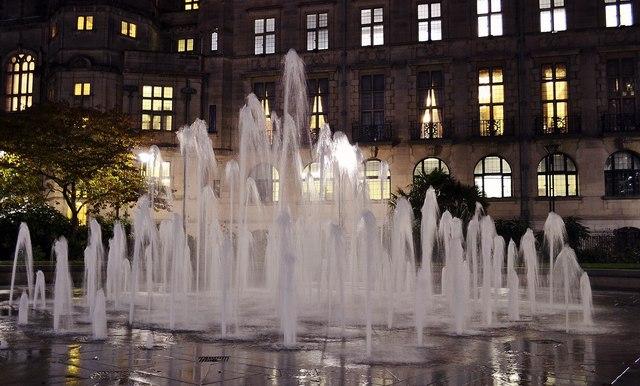 Peace Gardens fountain
