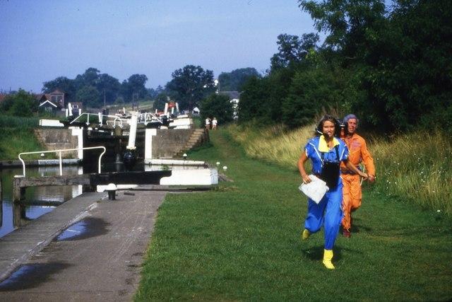 Anneka Rice at Hatton Locks, 1984 (1)
