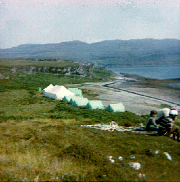 Tents on the beach near Cruib Lodge