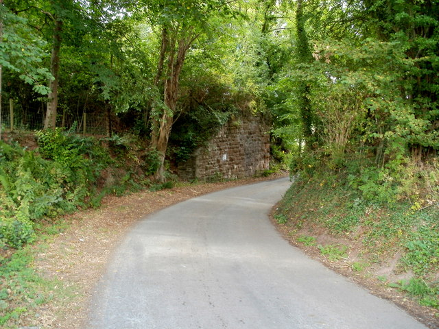 Remains of a railway bridge SW of Talgarth