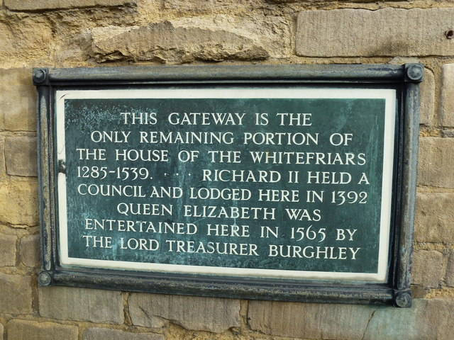 Photo of Richard II, Elizabeth I of England, and William Cecil black plaque
