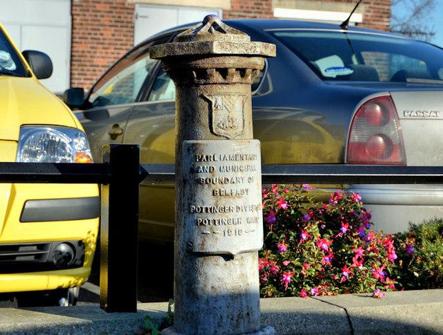 Boundary post, Castlereagh Road, Belfast (1)