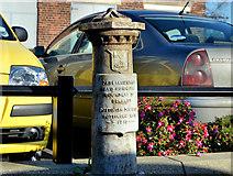 J3772 : Boundary post, Castlereagh Road, Belfast (1) by Albert Bridge