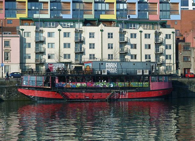 Colourful eatery on Mardyke Quay, Bristol