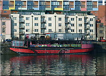 ST5772 : Colourful eatery on Mardyke Quay, Bristol by Anthony O'Neil