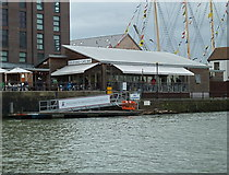ST5772 : Waterside refreshments at the SS Great Britain, Bristol by Anthony O'Neil