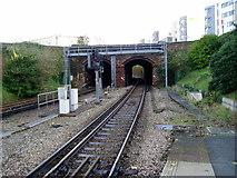 SZ0991 : Holdenhurst Road bridge by Peter Holmes