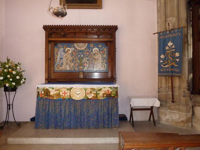 Inside Holy Trinity, Weymouth (h)