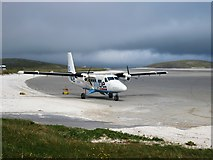 NF6905 : Barra Airport Arrivals by Steve Houldsworth