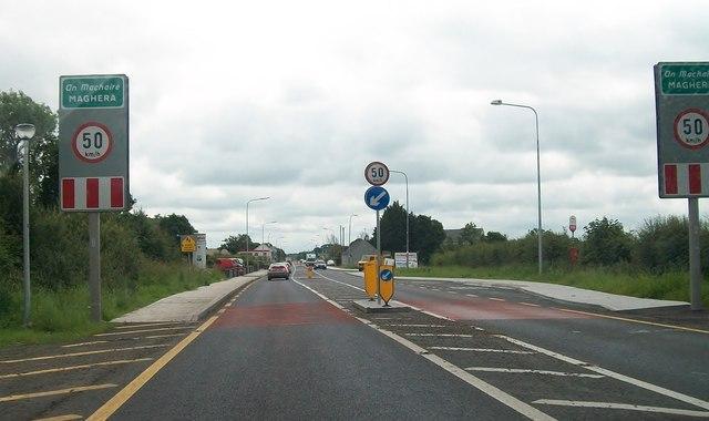 New road improvement measures at Maghera, Lisduff