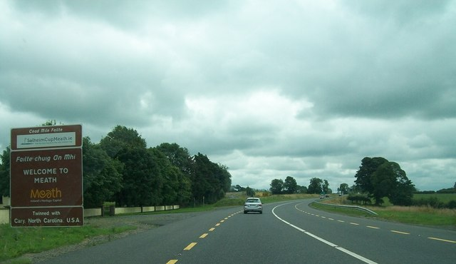 The N3 at the county border between Cavan and Meath