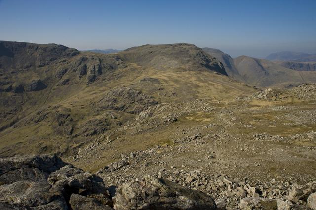 Summit plateau on Esk Pike