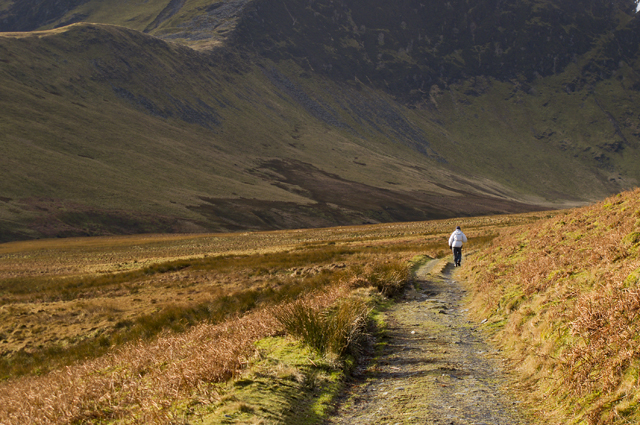 Track up Bannerdale
