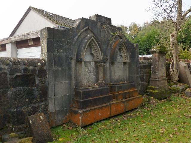 Millburn Kirkyard: southern wall