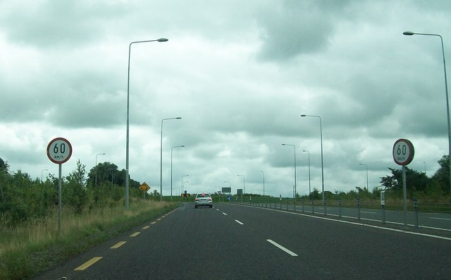 The N3 approaching the Drumbaragh Roundabout