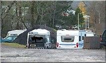 NN0776 : Informal, unlicensed caravan park by Phillip Williams