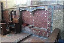 TF2935 : Sedilia & double piscina, Ss Peter & Paul church, Algarkirk by J.Hannan-Briggs