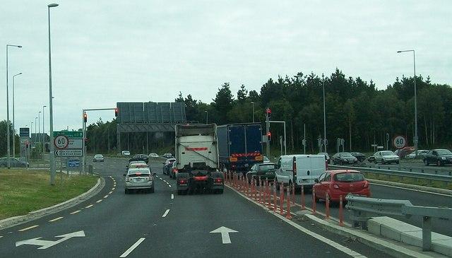 The Navan Road east of the M50 interchange